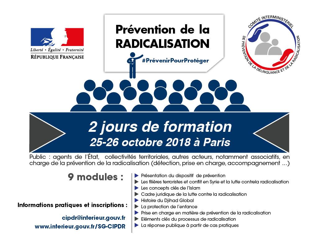 Prochaine session de formation du CIPDR : 25 et 26 octobre 2018