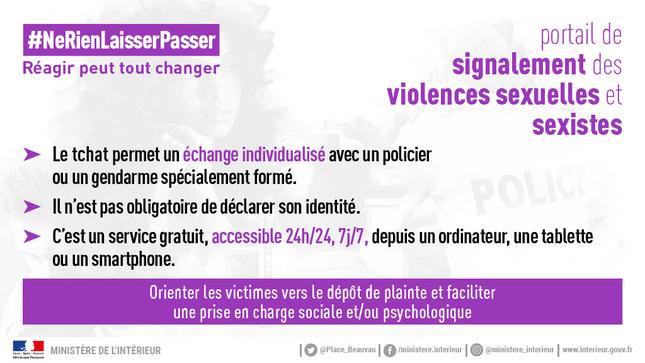 Lancement du portail de signalement des violences sexuelles et sexistes