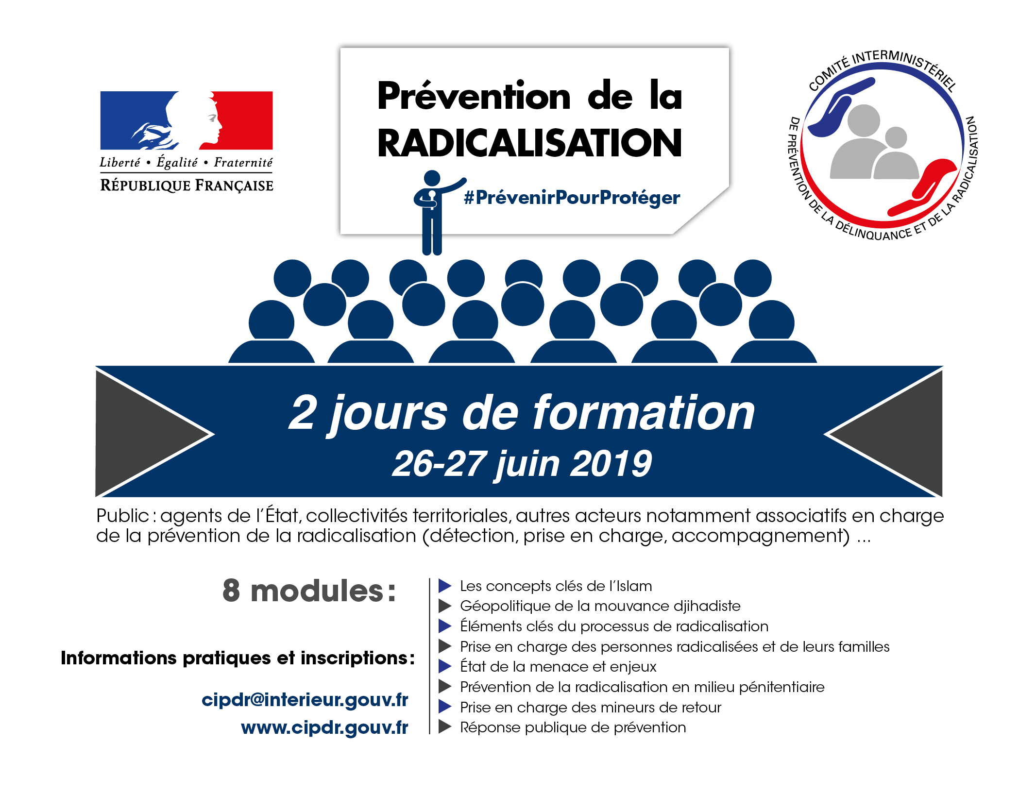 26/27 juin  : dernière session  de formation du SG-CIPDR, avant la rentrée