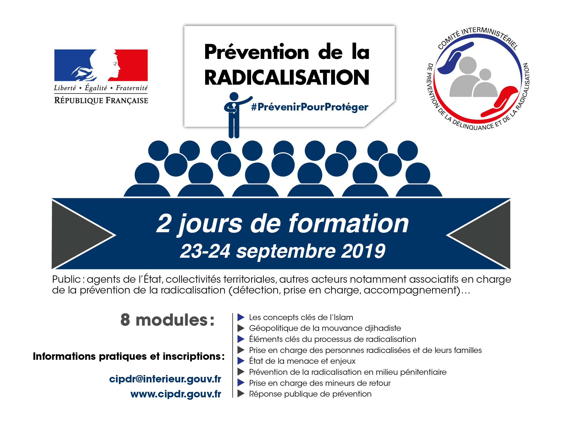 23/24 Septembre :  session de formation de la rentrée 2019