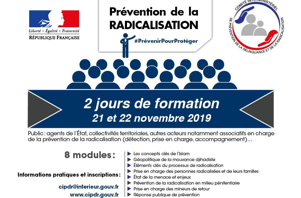 21/22 novembre : dernière session de formation de l'année 2019