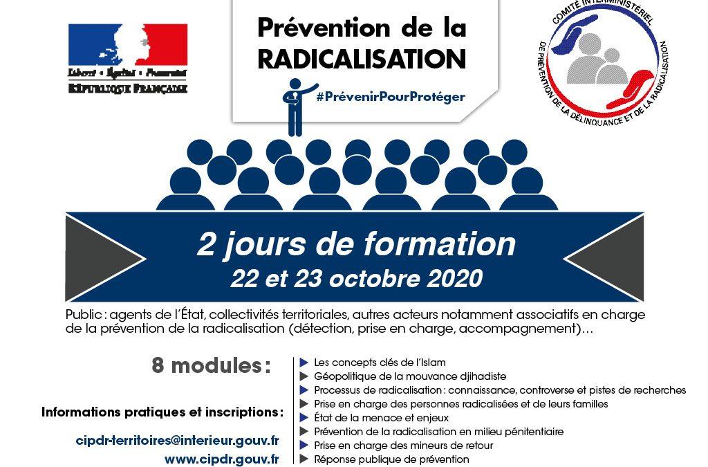 Formation prévention radicalisation octobre 2020