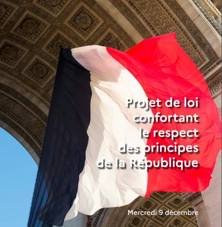 Le projet de loi confortant le respect des principes de la République