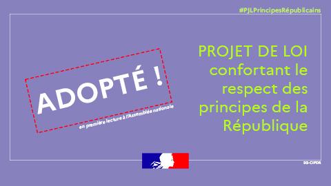 Projet de loi confortant le respect des principes de la République